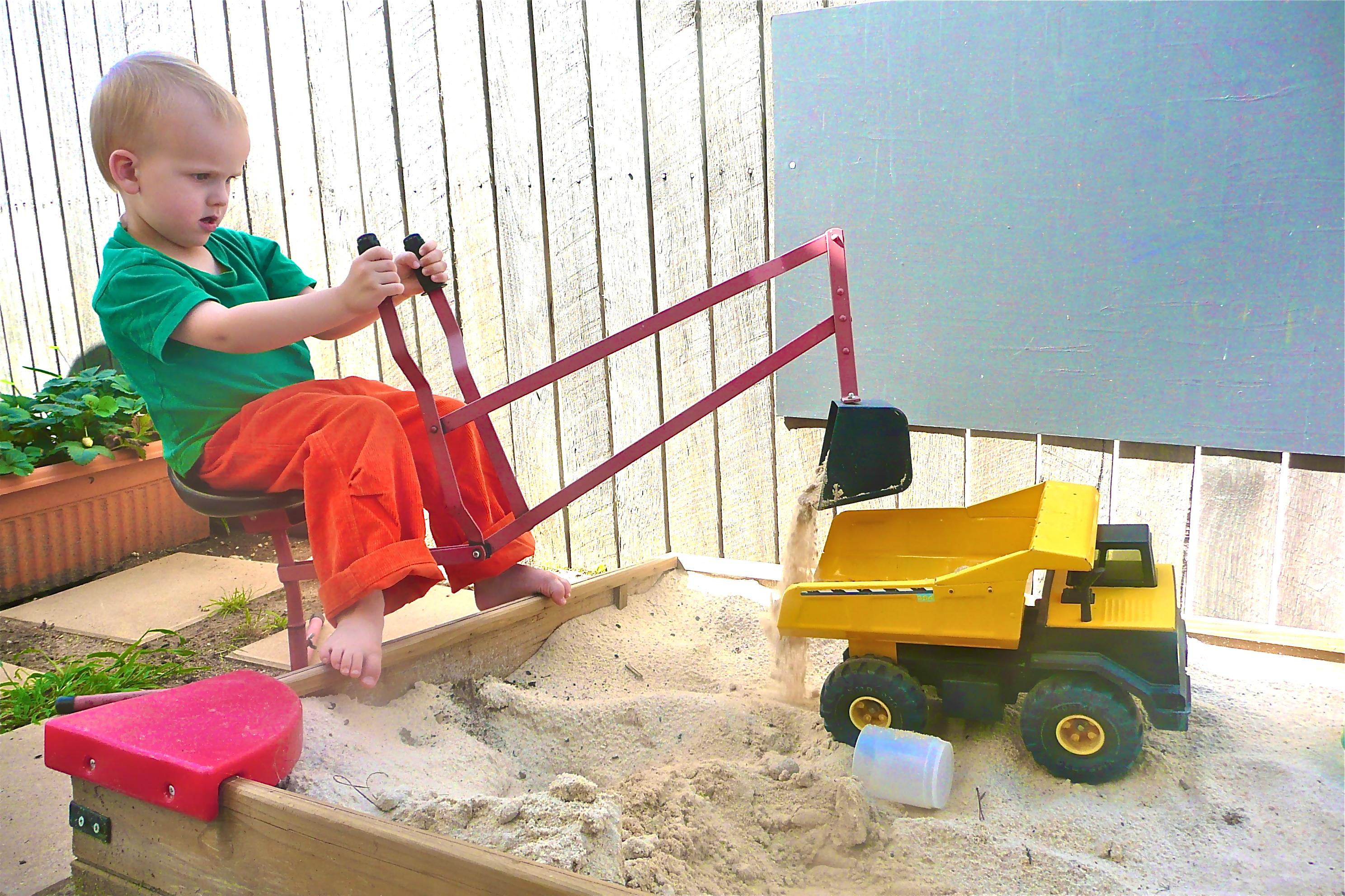 sandpit digger dumptruck how we montessori
