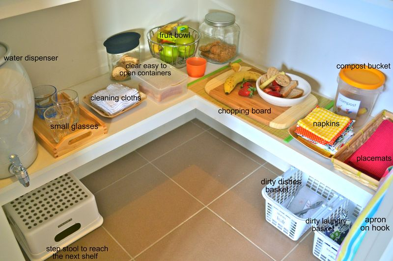 Caspar's food preparation area