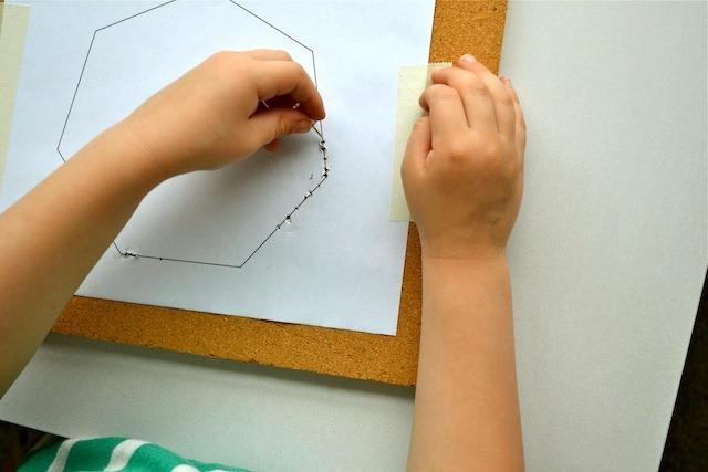 Montessori shape pinning