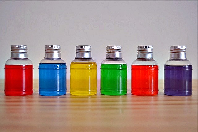 Little colour bottles