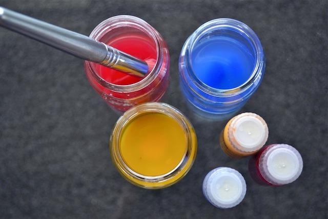 Water colour pots