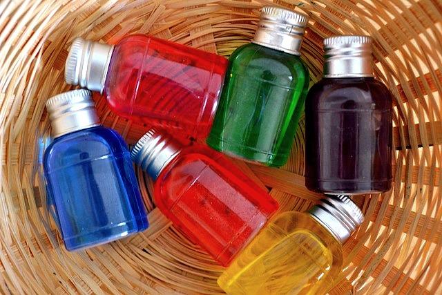 Little colour bottles
