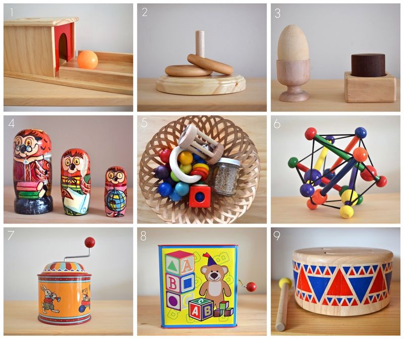Montessori Materials And Traditional Toys At 8 Months