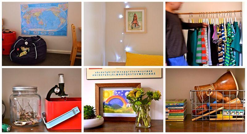 Caspar's room collage