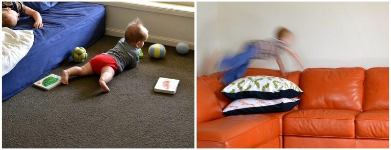 Otis in room, Caspar in lounge
