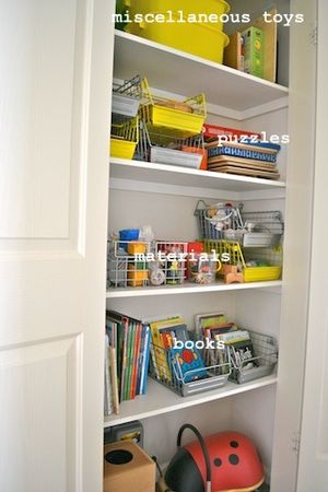 Storage cupboard with labels