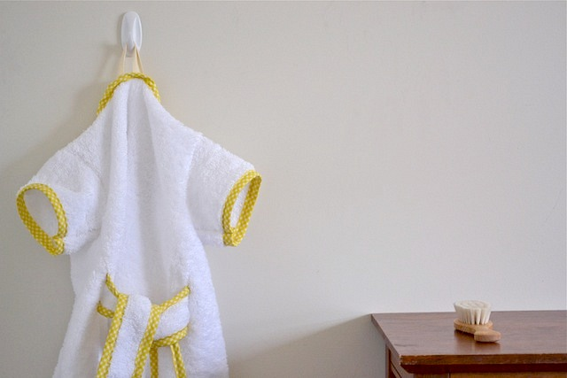 Robe on hook in Ot's room