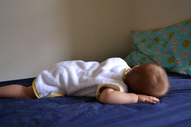 Otis sleeping with robe on