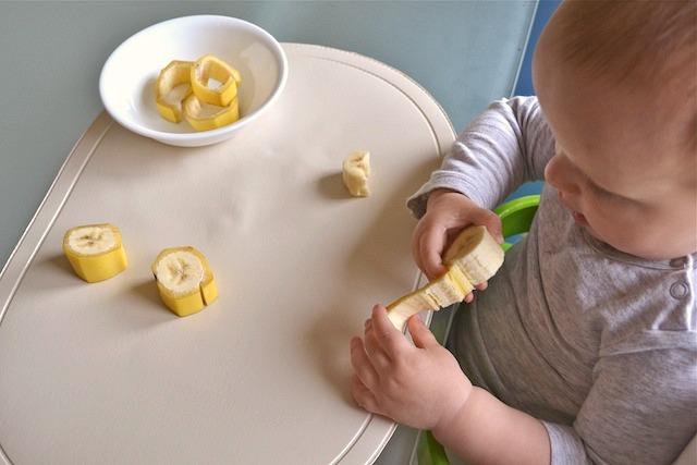 Otis peeling banana