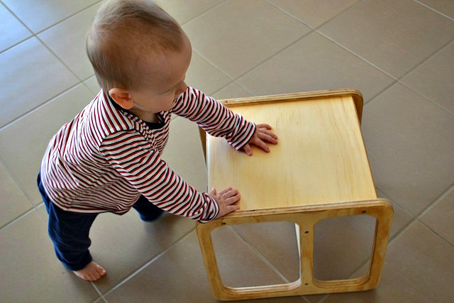 Otis walking with cube chair - 12 months