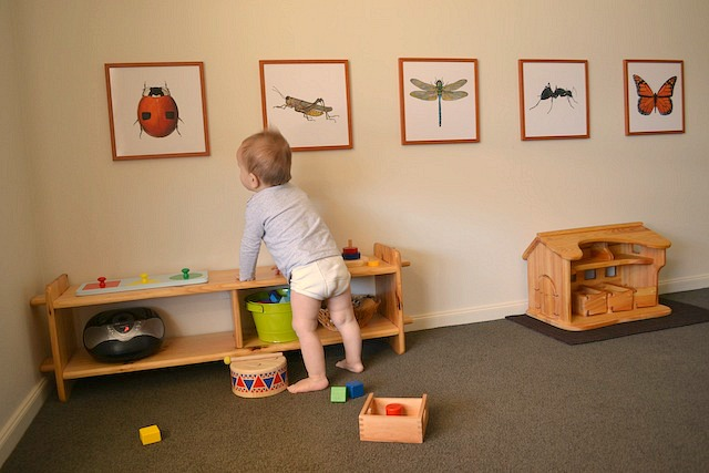 Otis's Montessori Room. Otis 13 months.