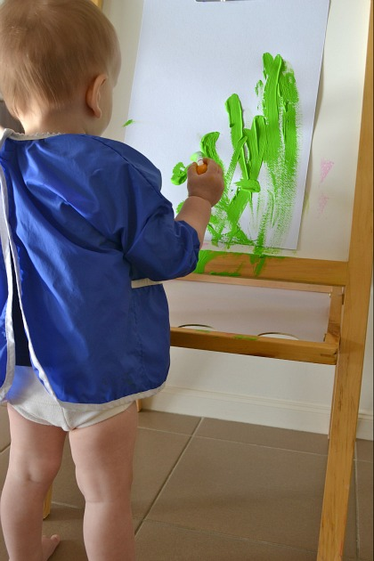 Otis painting at easel