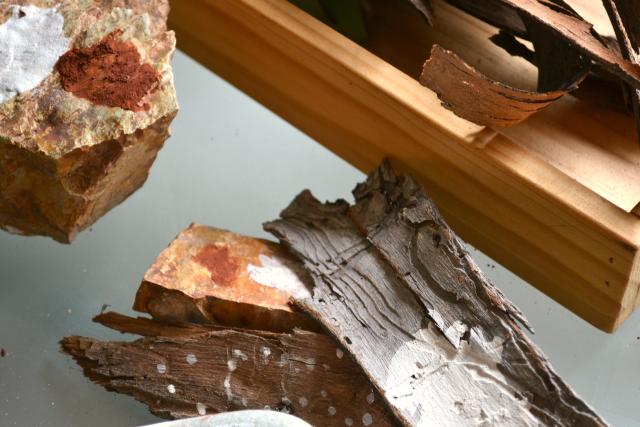 Rock, bark and ochre