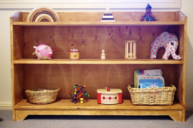 Sarah's shelves at twelve months