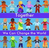 Amy Kuhl Cox, Together We Can Change the World Poster