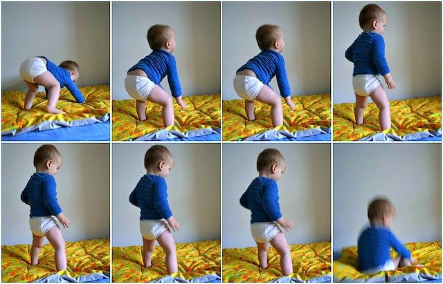 Otis standing at 13 months