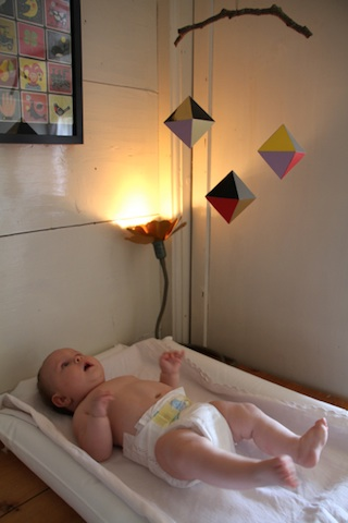 Alice with Octahedron inspired mobile