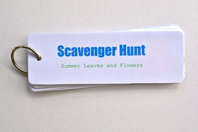 Scavenger Hunt Cards