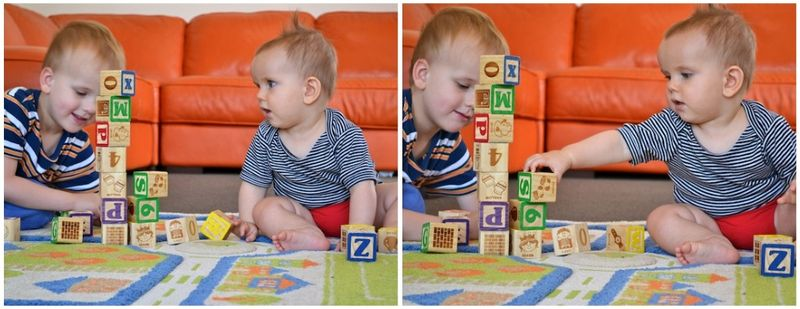 Playing blocks together