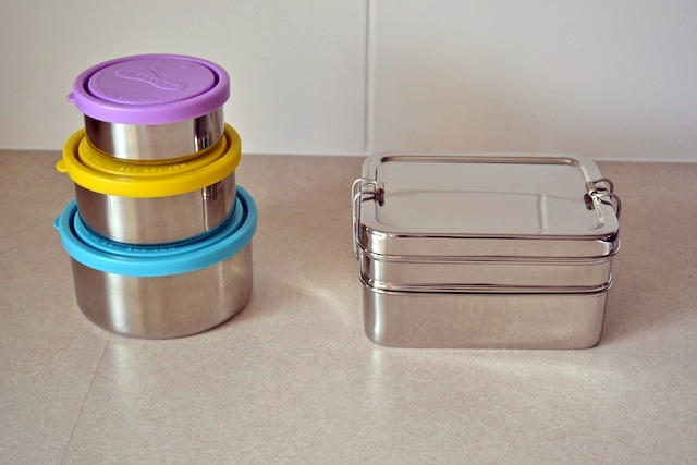 Lunch box and food containers