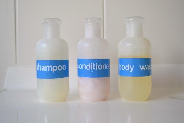 Shampoo, conditioner, body wash