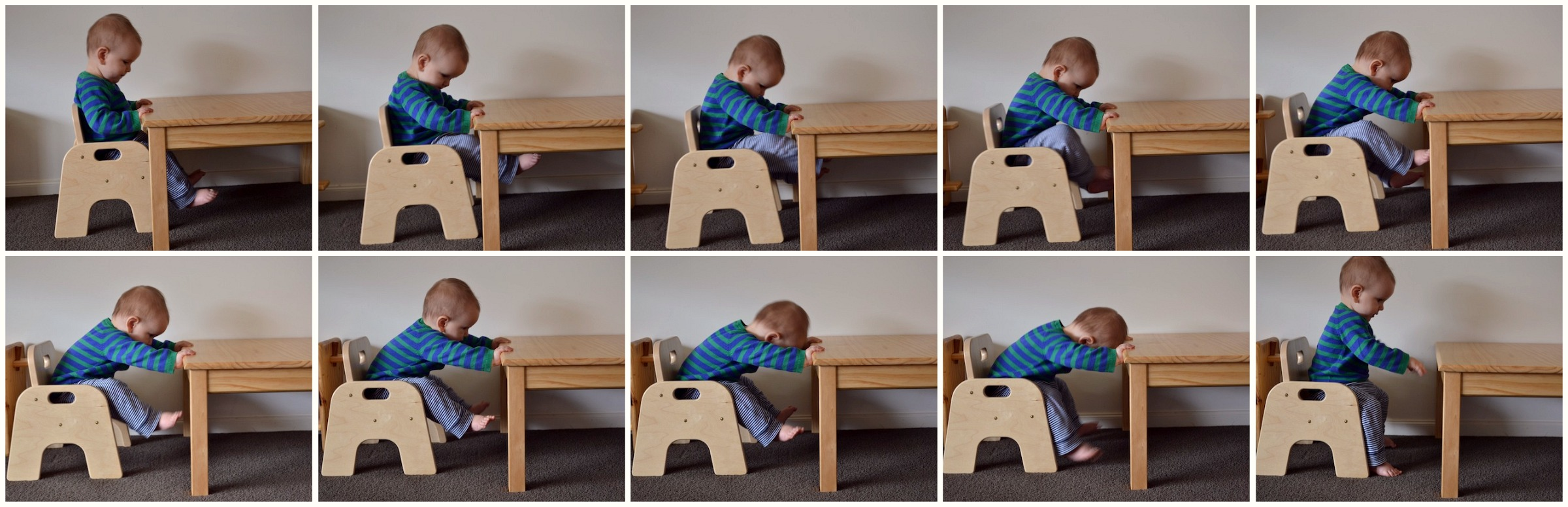 Working Sitting Standing At His Table How We Montessori