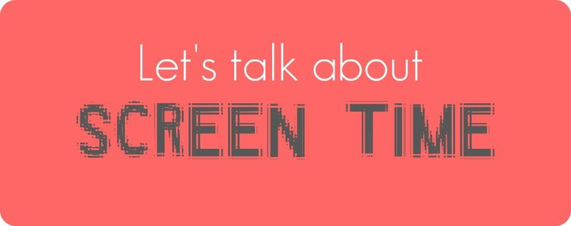 Let's talk about Screen Time - title banner
