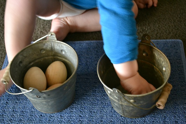 Whole hand transfer with wooden eggs