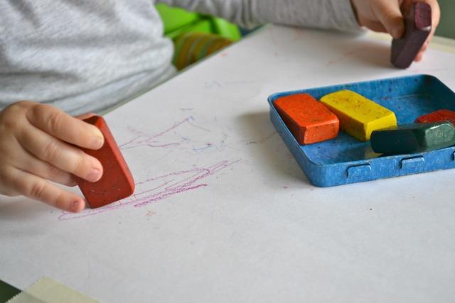 Otis with Stockmar Wax crayons