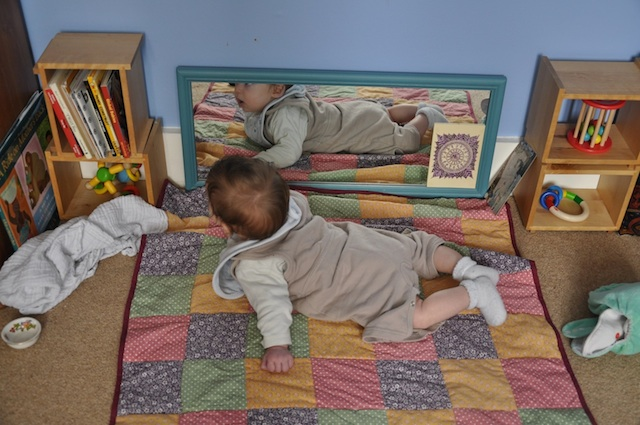 Finn in his Montessori movement area